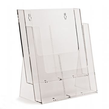 2C230X | 2 Pocket A4 Portrait Leaflet Holder